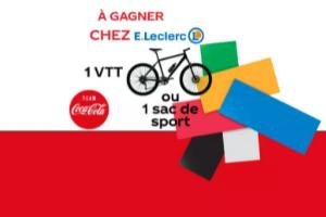 VTT et un sac de sport Team Coca-Cola