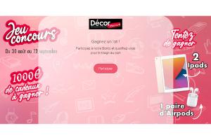 jeu concours magasin Décor Discount